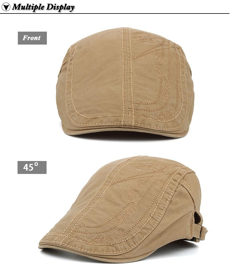 bbe46e1416866 JOYMAY nueva primavera de algodón de verano de boinas gorras para ...