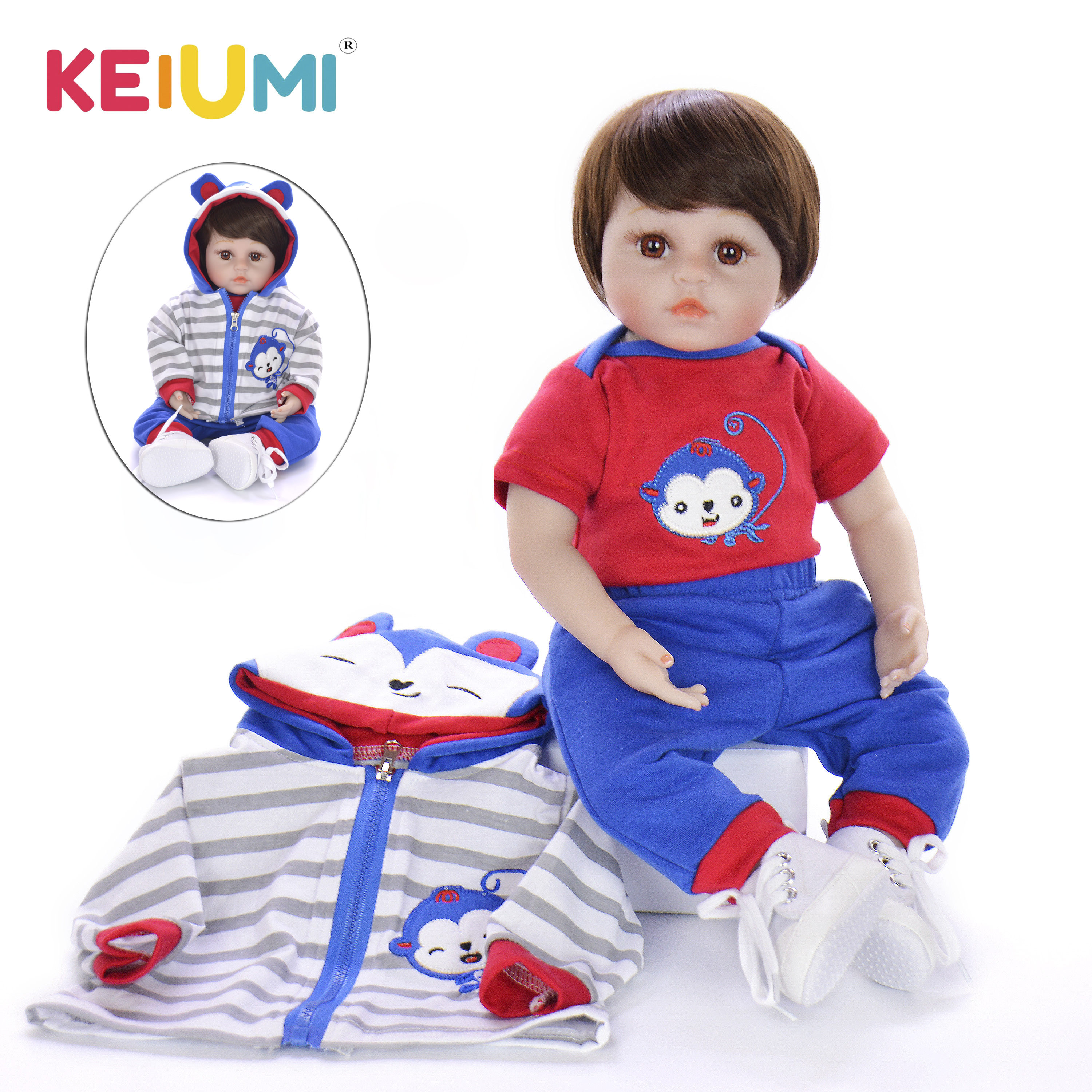 KEIUMI Adorable Reborn Baby Silicone 48 cm Realistic Stuffed Doll Reborn Boneca Touch Soft Little Man For Boy Kids Playmate GiftKEIUMI Adorable Reborn Baby Silicone 48 cm Realistic Stuffed Doll Reborn Boneca Touch Soft Little Man For Boy Kids Playmate Gift