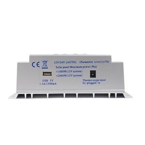 Image 5 - 80A Bộ Điều Khiển Sạc Năng Lượng Mặt Trời USB 1.5A 5V Đầu Ra 12V 24V LCD Bảng Điều Khiển Năng Lượng Mặt Trời Điều Chỉnh Với Tải Trọng Hẹn Giờ và Điều Khiển Ánh Sáng Chiếu Sáng