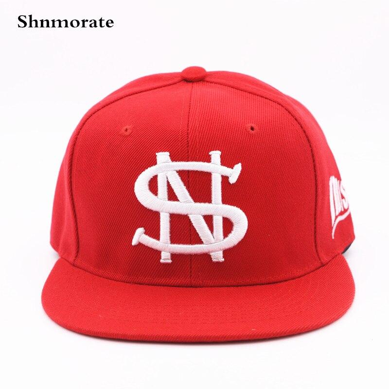 Marca dinero signo ajustable Casual gorra de béisbol hombres y mujeres  Snapback Casquette Unisex deporte sombrero 585f5df3c9d