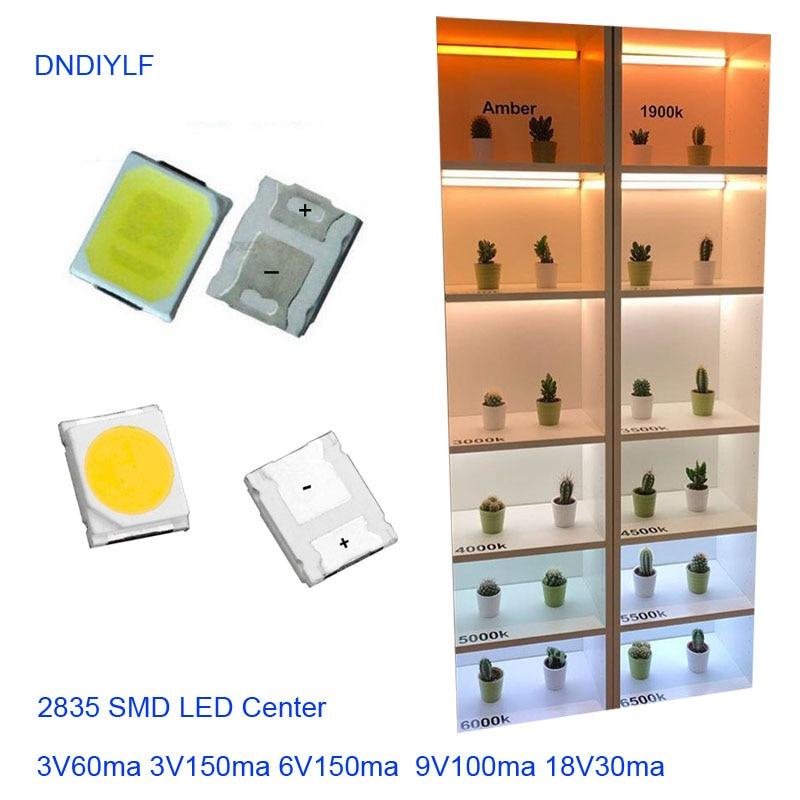 Factory Outlet  1000pcs 2835 White & Warm White LED SMD 18v 9v 6v 3v High power Light 1w 0.2w 0.3w 0.5w