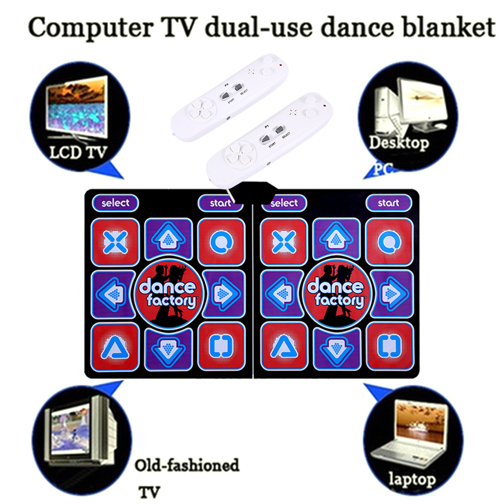Relefree Double Dancing Mat Double Dance Pads Fashion Foldable with Handle Controller TF Card Dancing Machine Fitness
