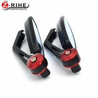 for black universal Motorcycle Bar End rearview Mirrors 22mm 7/8 For 2008 2014 Suzuki Hayabusa GSX1300R GSXR 1300 08 09 11 12 1