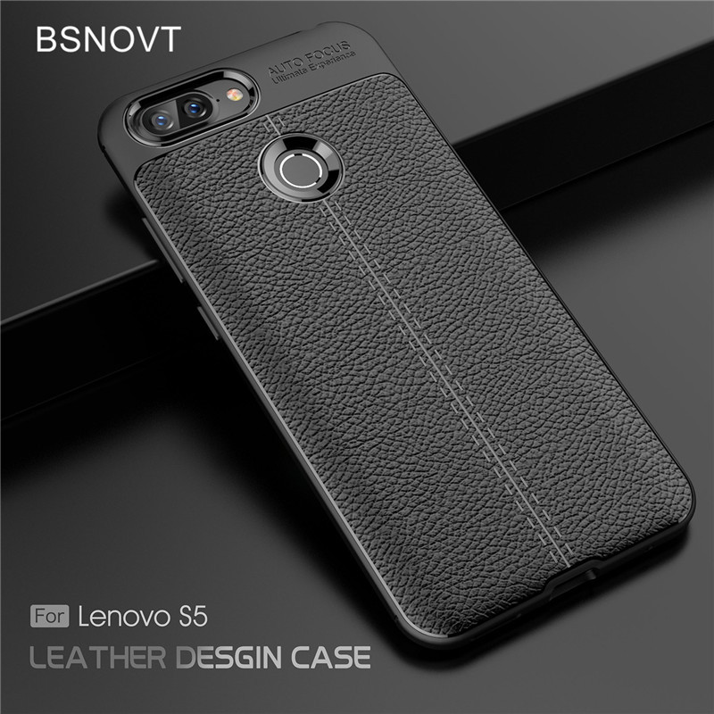 For Lenovo S5 Case Soft Silicone PU Leather Shockproof Anti-knock Cover K520 5.7 BSNOVT