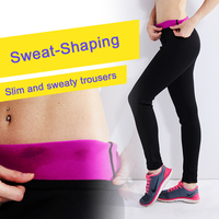 Women Slimming Sweat Nine pants Long Pants Sauna Hot Burn Fat Yoga Body Shaper For Weight Loss Free Shipping