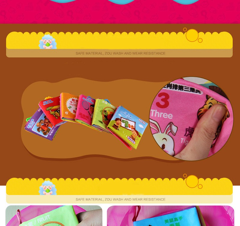 Baby Toys 6PCS Soft Cloth Books For Babies Educational Toys Stroller Rattle Mobiles Toy For Newborn Crib Infant Toys 0-12 Months