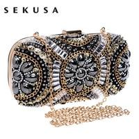 Free Shipping Women S Crystal Evening Bag Retro Beaded Clutch Bags Wedding Diamond Beaded Bag Rhinestone