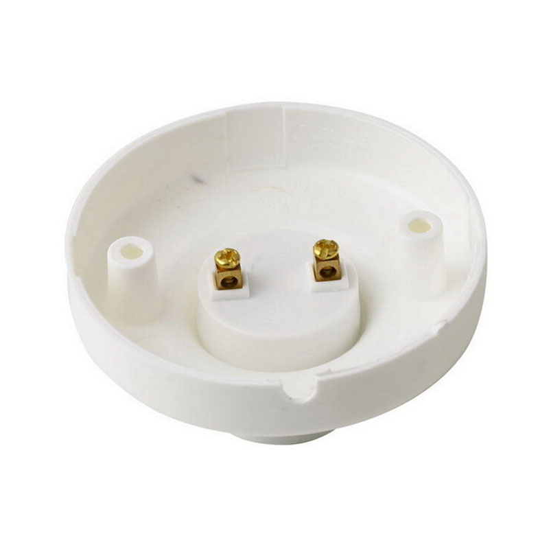 1PC E27 Lamp Holder, Round Lamp Bulb Socket Bases White Lamp Holder, Flame Retardant PBT, Free Shipping