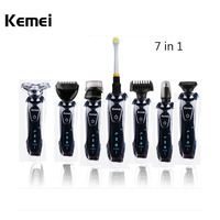 Kemei KM 8867 Rechargeable 3D Electric Shaver 7 in 1 Washable Electric Razor Men Beard Trimmer Shaving Machine Barbeador