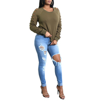 HeyGalSing High Quality Plus Size Ripped Fading Jeans Women S True Denim Skinny Distressed Jeans For