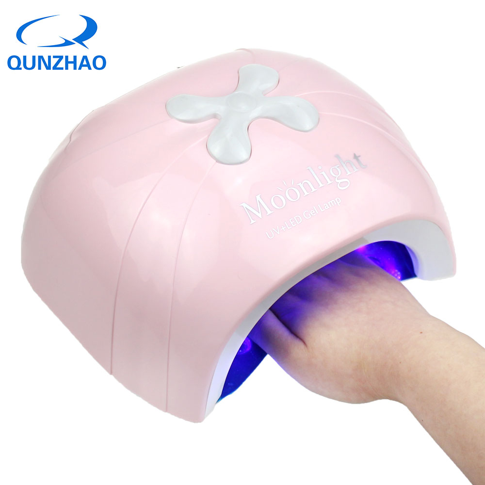 Newest UV LED 48W Lamp For Nail Gel Polish Professional Light Therapy Manicure Lamp With Fan Nail Dryer Salon Equipment 2018 new professional electric nail gel polish remover steam off uv gel polish removal machine nail steamer for home nail salon