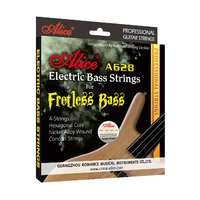 Alice A628 Fretless 4 Electric Bass Strings Full Set 4 Strings Hexagonal Core Nickel Alloy Wound