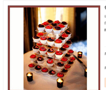 Crystal 5 tiers square acrylic wedding cupcake stand wedding decoration