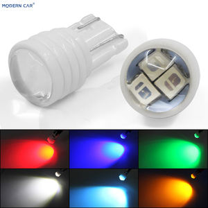 Современный автомобиль 1 шт. T10 led 3smd 5630 чип автомобильная лампа зазор лампы керамические светодиодные W5W Белый Синий Зеленый Красный Лампа о...