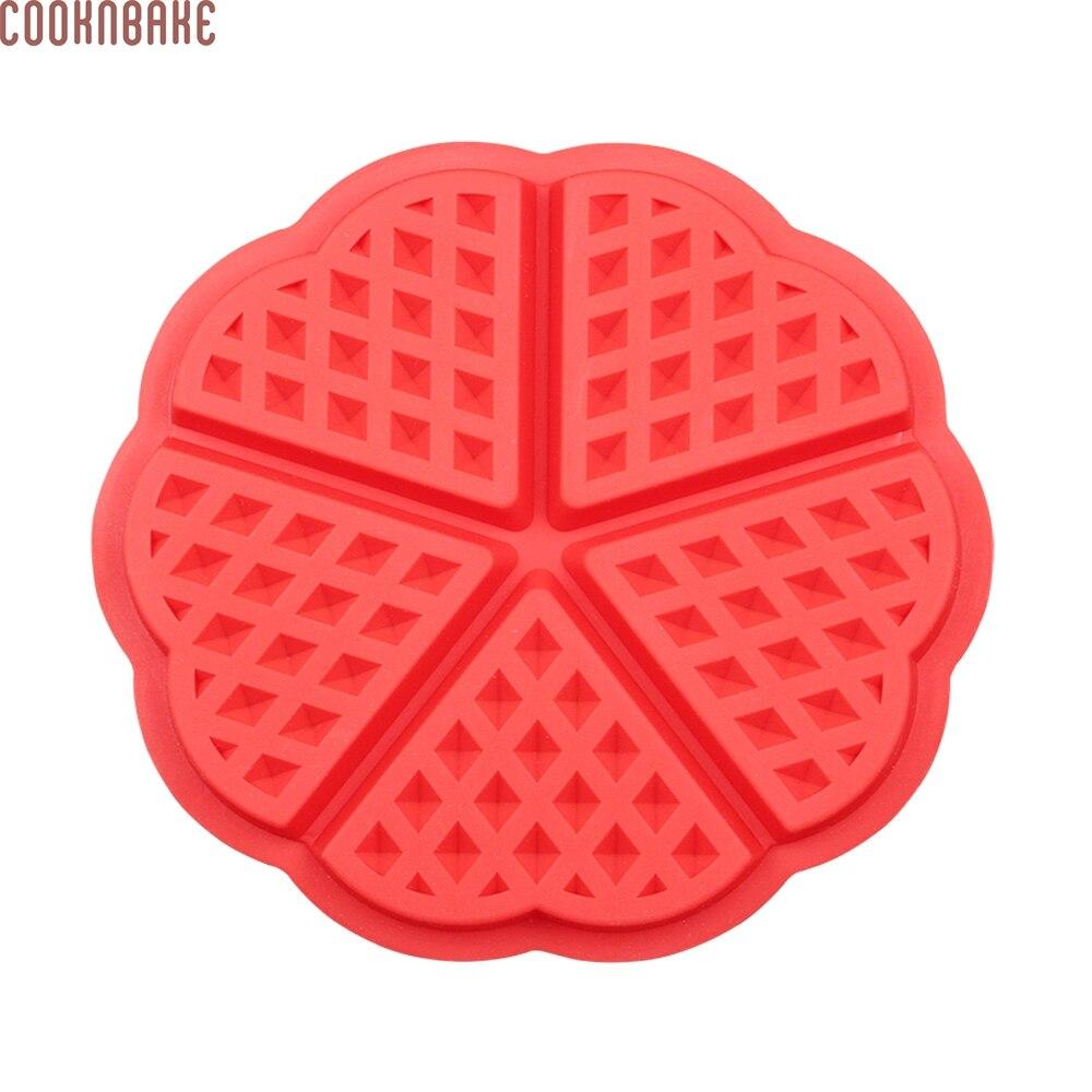 d622e995feeb4 COOKNBAKE DIY Silicone Moule À Cake Cookie Gaufre Moule Coeur Forme  Chocolat Moule CDSM-541