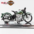 1:18 Maisto kids Harley 1936EL KNUCKLEHEAD mini vintage car Diecast model motorcycle car metal motorbike miniature gift toys boy
