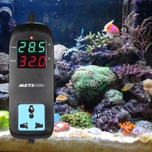Meterk Digitale Thermometer Thermoregulator Led Fokken Temperatuurregelaar Thermokoppel Thermostaat Met Socket Ac 90V ~ 250V