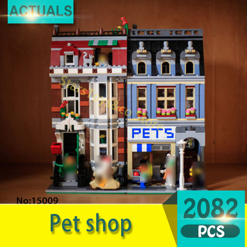 Lepin 15009 2082Pcs Street View series Pet shop Model Building Blocks Set  Bricks Toys For Children Gift 10218 Educational toys тонер картридж cactus cs ep22s