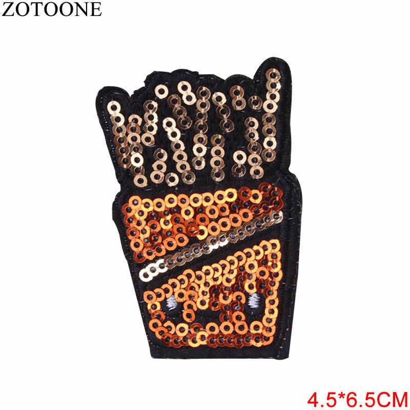 ZOTOONE духи Патчи Наклейки с блестками Корона железа на одежду аппликация с горячим нанесением вышитые аппликации накладки ткань G