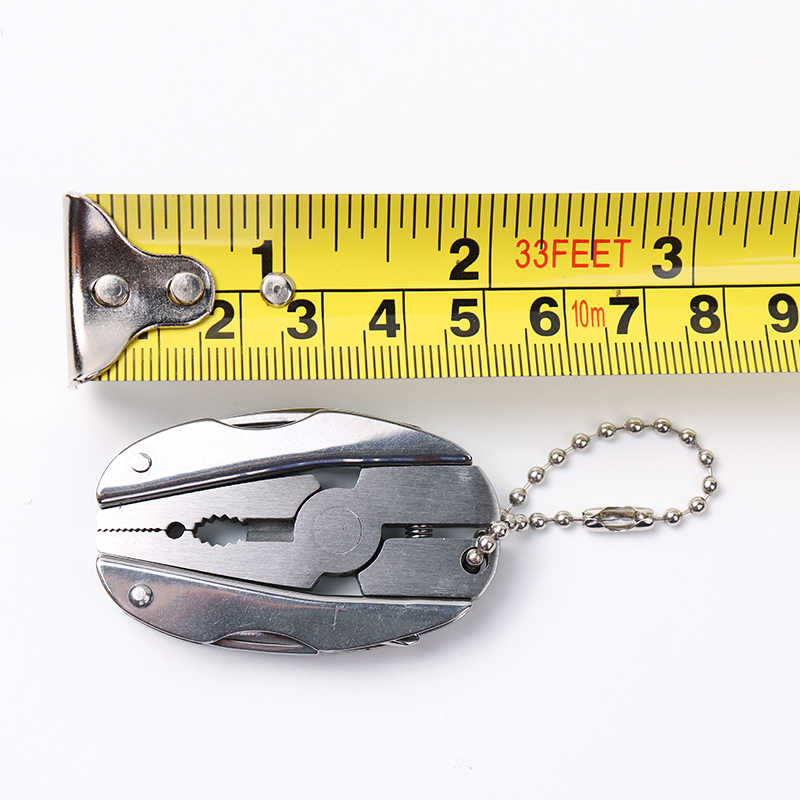 المحمولة متعددة الوظائف للطي ذو طيات الفولاذ المقاوم للصدأ Foldaway سكين المفاتيح مفك التخييم بقاء EDC أدوات أطقم سفر