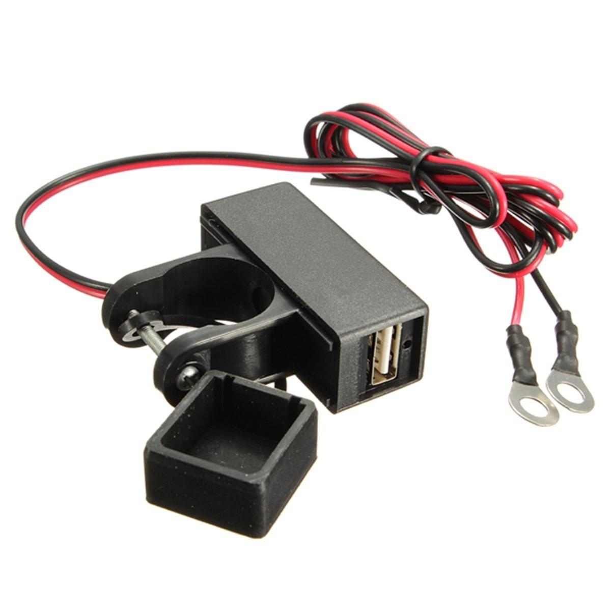 Универсальный 12 В Водонепроницаемый Мотоцикл Руль USB Зарядное устройство gps телефон Зарядное устройство Мощность разъем для Honda/Suzuki/Kawasaki