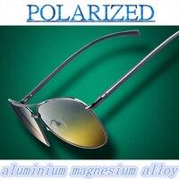 2016 spring aluminium magnesium alloy Day and night vision polarizer sunglasses sun glasses polarized sunglasses driving mirror