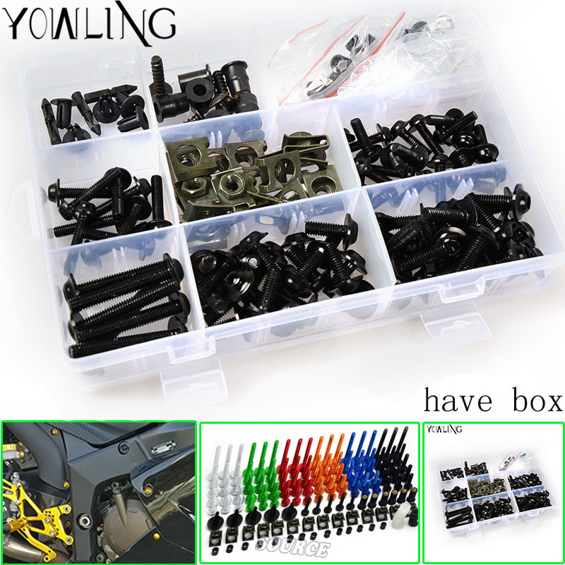 Universal CNC Motorcycle Fairing Bolts Kit Body Fastener Clips Screws FOR kawasaki z750 z800 z1000 er6n