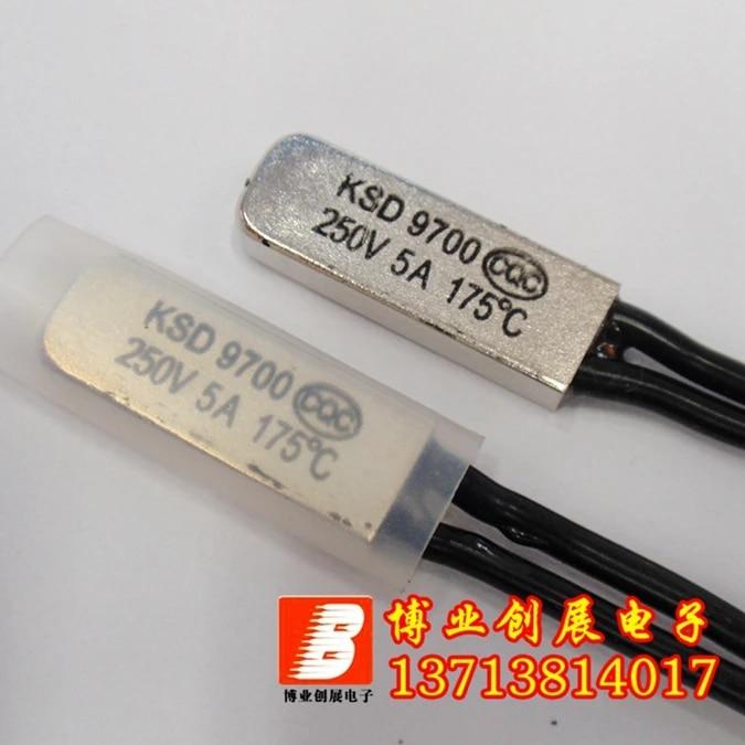 Term/óstato bimet/álico normalmente cerrado Interruptor de control de temperatura N.C. Aihasd KSD9700 5A 250V 35 grados cent/ígrados