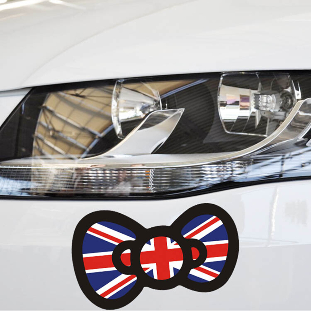 Toyota car sticker designs - British Butterfly Knot Hello Kitty Car Body Stickers Car Decal For Toyota Ford Chevrolet Volkswagen Tesla