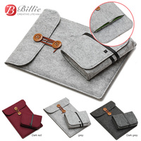 Billie 1113 Woolfelt Notebook laptop Bag Case For Macbook air 13 macbook pro 13 Case Laptop Sleeve Cover Case with Mouse Pouch