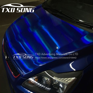 Image 3 - TXD hot product holographic rainbow film foil for car wrap vinyl 20*149CM/LOT with free shipping