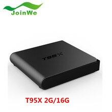 2016 S905X T95X TV Box Quad Core Android 6.0 Wifi 2.4G Kodi 16.1 2G 16G de Memoria Inteligente Android TV Box Media Player Set Top Box T95