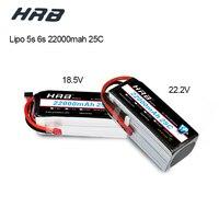 Hrb RC Lipo 5S 6 S батарея 18,5 в 22,2 22000 мАч 25C MAX 50C высокое ёмкость T разъем повязки для Вертолет Самолет Drone