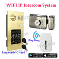 APP Remote Control WiFi/3G/4G Video Intercom System 1.0MP HD 720P IP Camera Doorbell Password Access RFID Card Remote Unlocking