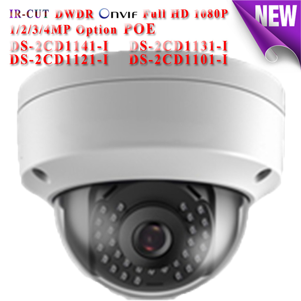 DS-2CD1141-I ETC hikvision ip camera poe 4MP 3MP 2MP 1MP ip cameras outdoor IP66 security network Video Surveilance camera cd диск fleetwood mac rumours 2 cd