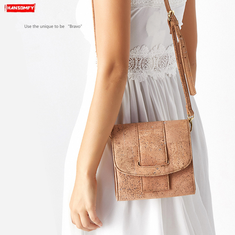 Cork women bag 2019 new female small should bag wooden mini new personality clutch bag messenger slung small square bagsCork women bag 2019 new female small should bag wooden mini new personality clutch bag messenger slung small square bags