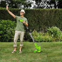 Multi functional Household Lawn Mower Lithium Electric Cordless Grass Trimmer Adjustable Handles Garden Lawn Grass Mower
