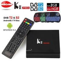 KII PRO S2 DVB T2 Caixa de TV Android 2 GB 16 GB DVB-S2 DVB-T2 Android 5.1 Amlogic S905 Quad-core WI-FI K2 pro 4 K Smart TV Box + teclado