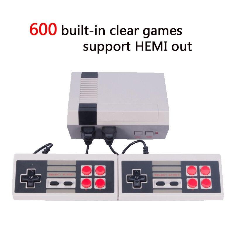 HDMI вне Ретро Классический Ручные игры Семья ТВ Видео игровой консоли детства встроенный 600 игр выход HDMI Mini консоли