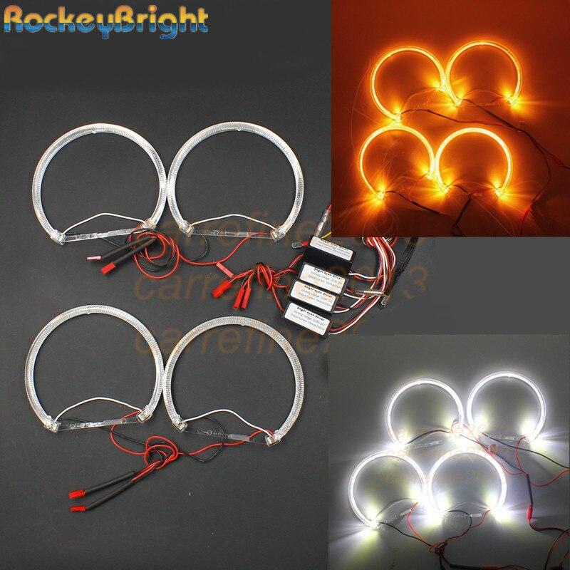 Rockeybright A+A LED Angel Eyes For BMW Angel Eye Halo Rings Light E36 E38 E39 E46 Projector White Yellow Crystal LED Angel Eyes