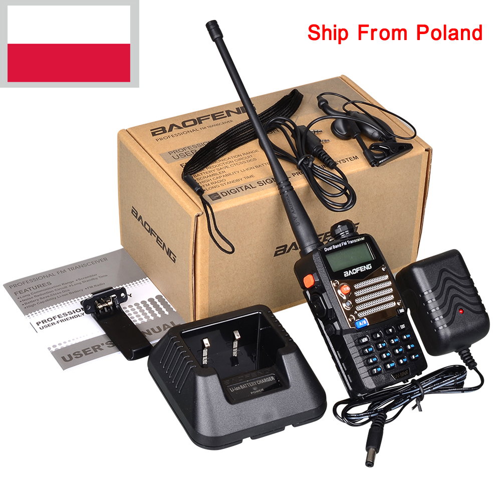 New Black Baofeng UV 5RA+Plus WalkieTalkie 136-174&400-520MHz Two Way Radio Stock In Spain Poland-ship Only 3 Days Recieve
