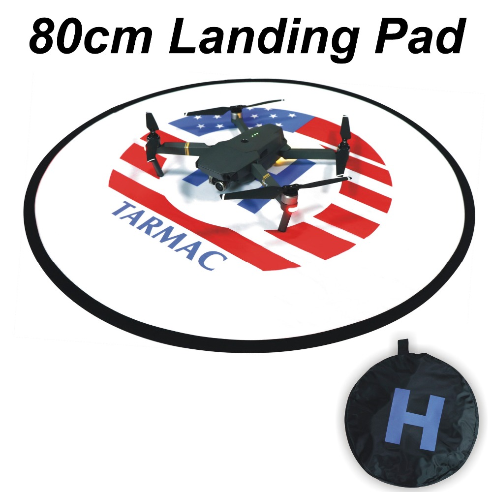80CM Landing Pad Folding Parking Zone Apron Helipad For DJI Mavic Pro air Spark phantom 3 4 PRO 4A Inspire 1 Yuneec Drone Red