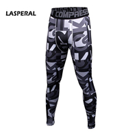LASPERAL Men's Running Tights Quick Dry Compression Leggings Fitness Jogging homme Sports Bottoms Printed 2017 Skinny Pants