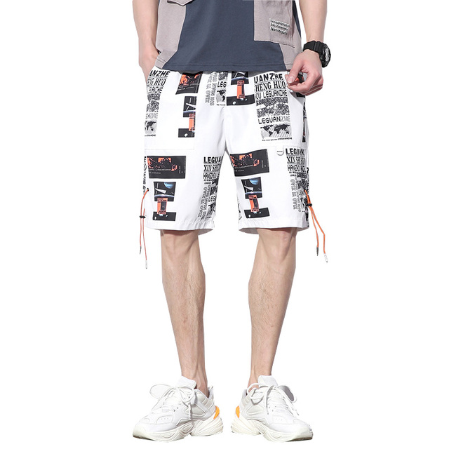 2019 New Summer Men Casual Shorts Knee Length Casual Streetwear Male New Fashion Harajuku Short Joggers ABZ355