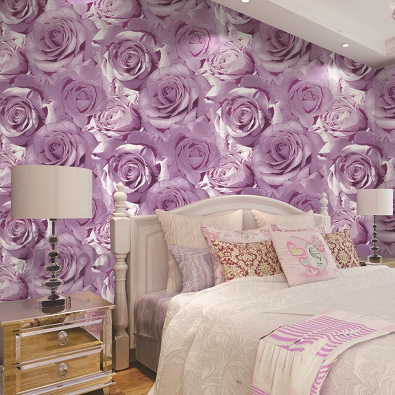 Vintage classical romantic big flowers red purple roses - Big rose flower wallpaper ...