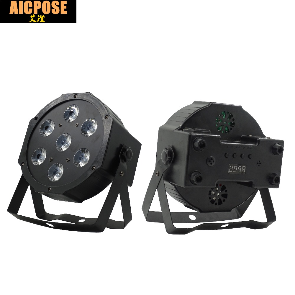 25 Angle Big Lens  7x18W Led Par Lights RGBWA UV 6in1 Flat Par Led Dmx512 Disco Lights Professional Stage Dj Equipment
