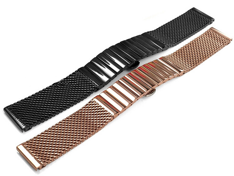 Watch band 18mm 20mm 22mm 24mm New Mens stainless steel SHARK mesh bracelet Diving Replacement Watchband - Guangzhou Royal Company Ltd store