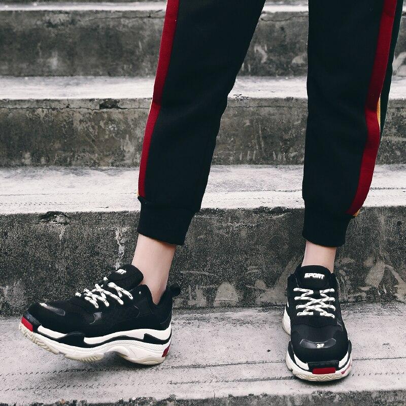 Hombres Mujeres Up Tendencia Lujo Inferior Zapatillas Transpirable Unisex Gruesa Más Tacones Zapatos Cm De Las Black Casuales 5 Lace grey Tamaño Moda HqHgr