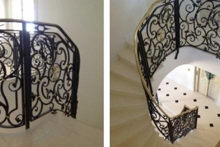 Hench 100% handmade forged custom designs metal porch railing