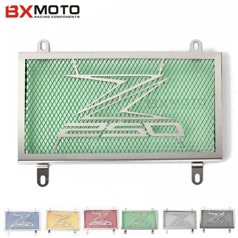 Motorcycle Accessories parts Radiator Grille Guard Cover Protector For Kawasaki Z250 Ninja 250 2013-2015 falling protection moto kemimoto radiator guard for kawasaki z900 2017 radiator grill protector for kawasaki z 900 2017 moto motocycle parts accessories